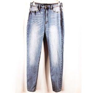 Fashion Nova High Waisted Skinny Blue Jeans Sz 1XL